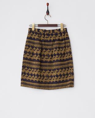 ベージュ  ブリュットジャガードスカート見る