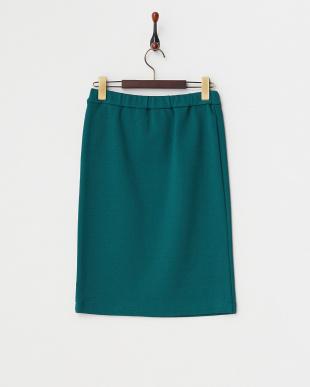 グリーン ベアミラノリブ タイトスカート見る