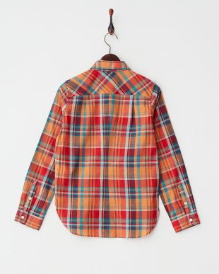 レッド系 PENDLETON マドラスチェックシャツ見る