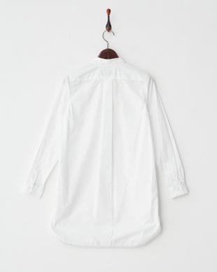 オフホワイト ブロードウォッシュ チュニックシャツ見る
