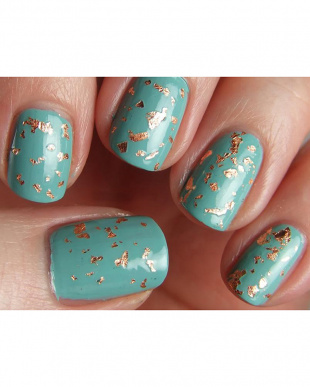 Lacey: Gold/Teal ネイルデュオ LAQA&CO.見る