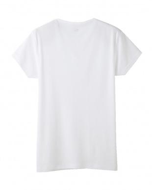 ホワイト  YV0117N VネックTシャツ見る