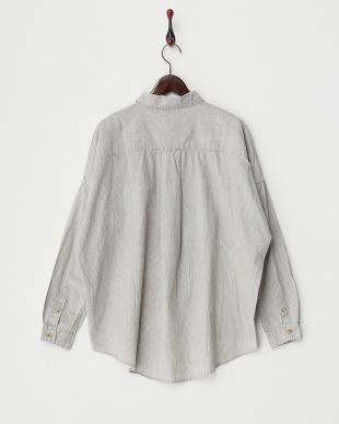 柄A  ケミカル加工 コットンビッグシャツ見る