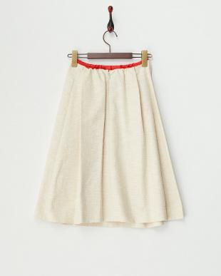 BEIGE  インバーティドプリーツ調スカート見る