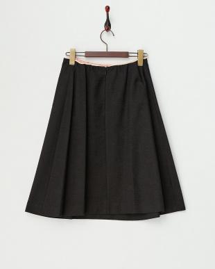 BLACK  インバーティドプリーツ調スカート見る