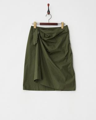 KHAKI  ドレープラップデザインスカート見る