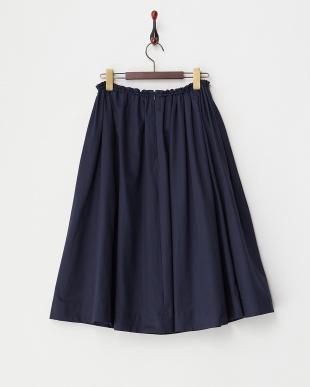 NAVY  ウエストゴム&ドロストギャザースカート見る
