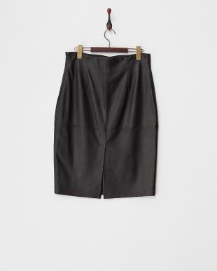 ブラック レザースカート見る