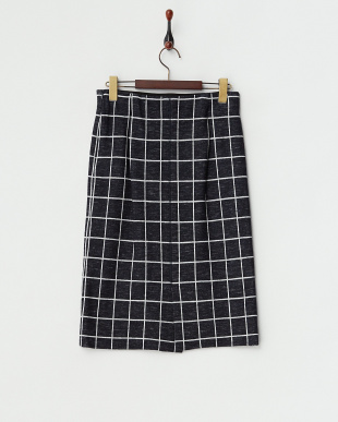 NVY 綿ウールダブルジャカードスカート見る