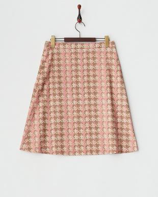 PNK  トラペーズラインミディスカート見る