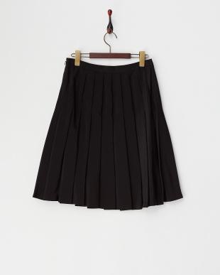 ブラック PEデシンプリーツスカート見る