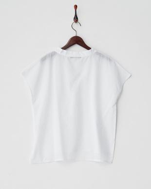 ホワイト  ハンソデシャツ見る