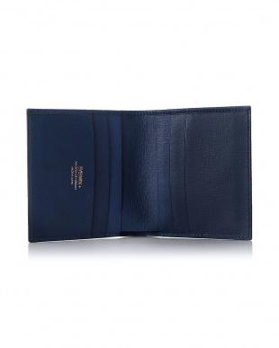 ネイビー  2つ折財布(純札)日本製 MAISON de HIROAN見る