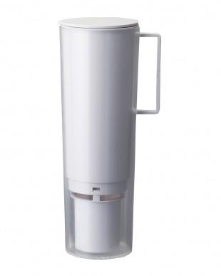 ホワイト 浄水機能付き水素水生成器見る