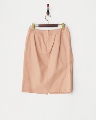 ピンク  ツイルシェルタリングタイトスカート見る