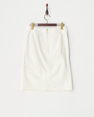 ホワイト  ツイルシェルタリングタイトスカート見る