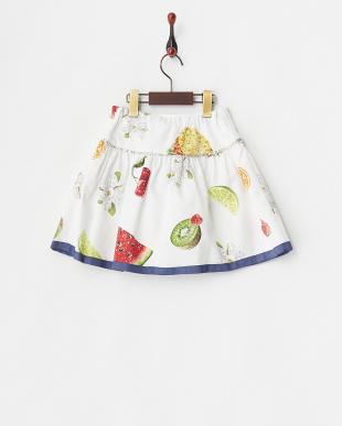 シロ フルーツプリントスカート4Y~見る