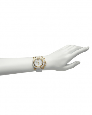 ホワイト×ブラック  MIAMI マテラッセレザーベルト腕時計見る