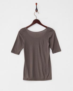 チャコールグレー  吸湿発熱 5分袖シャツ見る