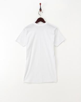 ホワイト コットンTシャツ見る
