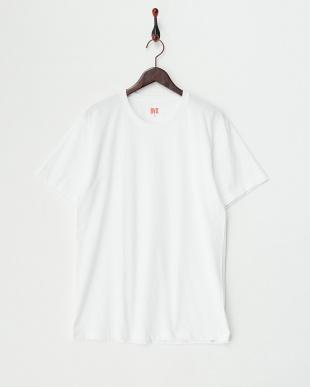 ホワイト  クルーネックTシャツ2枚組見る