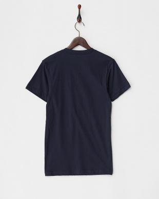 ネイビー リゾートプリントロングTシャツ見る