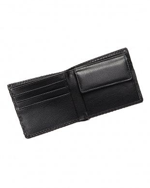 ブラック  パイソン折財布見る