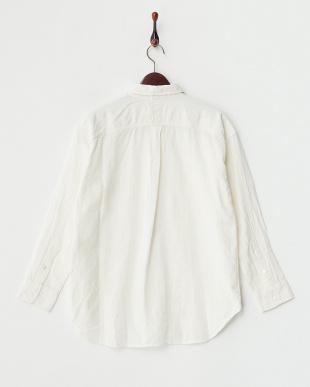 オフホワイト  インド綿2WAYシャツ見る