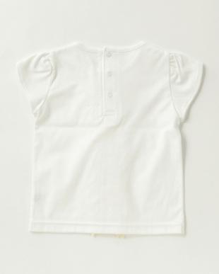 ホワイト  フリルTシャツ|女児見る