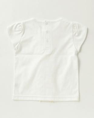 ネイビー  フリルTシャツ|女児見る