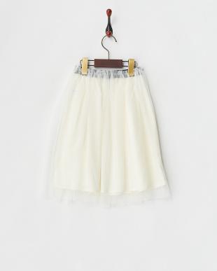 ホワイト  チュールスカート見る