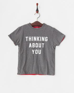 レッド  リバーシブルTシャツ見る