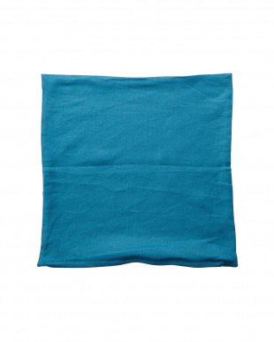 ブルー フレンチリネンクッションカバー 45×45cm見る