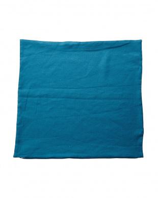 ブルー  フレンチリネンザブカバー 55×59cm見る