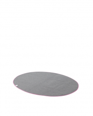 ピンク  レース柄ラグ 130×185cm(オーバル)見る