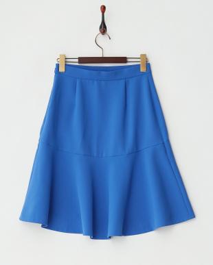 ブルー  エステルフレアスカート見る