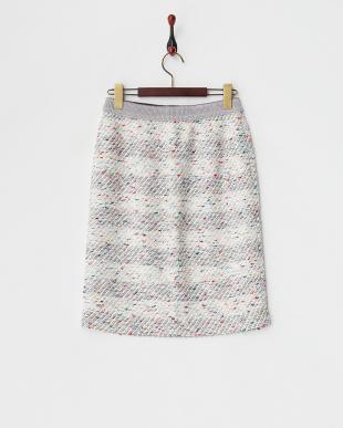 レッド  カラーネップニットタイトスカートスカート見る
