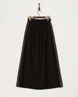 ブラック  刺繍ロングスカート|Khaju見る