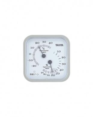 グレー  温湿度計 TT-557見る