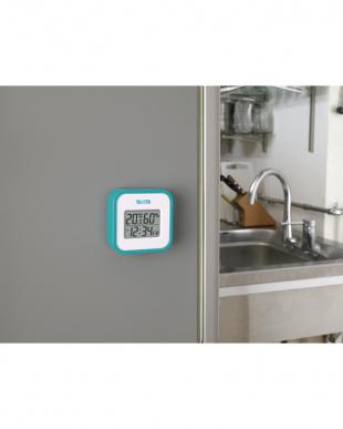ブルー  デジタル温湿度計 TT-558見る
