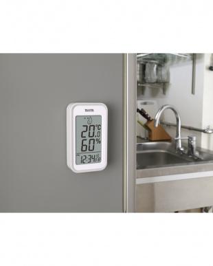 グレー  デジタル温湿度計 TT-559見る