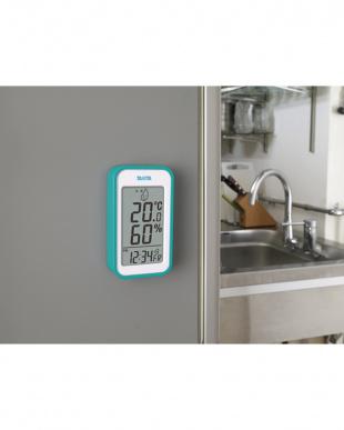 ブルー  デジタル温湿度計 TT-559見る