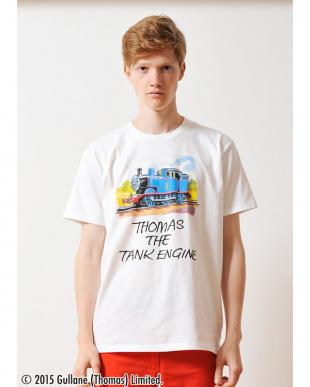 ホワイト Tシャツ トーマス アンド フレンズ トーマス ザ タンク エンジン見る