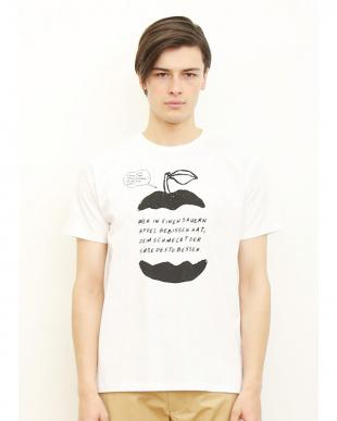 ホワイト Tシャツ マイ アップル見る