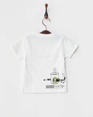 ホワイト キッズTシャツ スシ トレイン見る