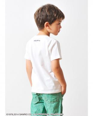 ホワイト キッズTシャツ サンリオ フェイク タイ ハロー キティ見る