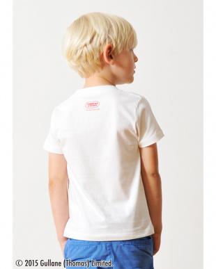 ホワイト キッズTシャツ トーマス アンド フレンズ タテロゴ見る