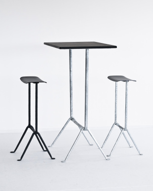 painted black/black  OFFICINA STOOL SH65見る
