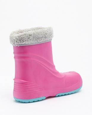 ピンク  プーキーズ レイン・スノー 両用ブーツ|KIDS見る