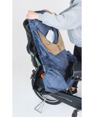 デニム×ベージュ  リヤチャイルドシートカバー(自転車 後子供乗せ専用)|KIDS見る